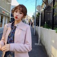 女士机车小皮衣2018新款短款韩版百搭修身立领pu皮夹克外套女春