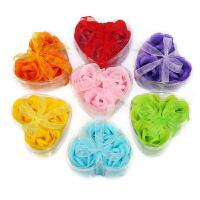 3朵浪漫心形玫瑰香皂花生日礼物女生创意浪漫情人节送女友朋友女生生日礼物送女朋友 --颜色随机