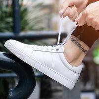 金牛骑士牛皮小白鞋学生板鞋男鞋韩版潮鞋子透气休闲鞋