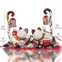 招财猫摆件 开业创意闺蜜结婚礼物个性陶瓷猫送朋友实用新人礼品天生一对摆件