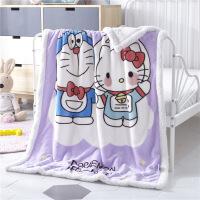 商场同款婴儿毛毯双层加厚保暖秋冬季新生儿宝宝珊瑚绒小毯子儿童绒毯盖毯