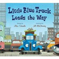 【现货】英文原版 跟着蓝色小卡车 Little Blue Truck Leads the Way 0-3岁 低幼绘本 纸