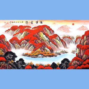 中国青年美术家协会常务理事,中国山水画院专业画家,国家一级美术师高云鹏(鸿运当头)2