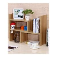 简约电脑桌上书架伸缩桌面书柜简易置物架小型办公收纳架