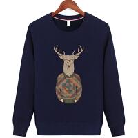 冬季青少年学生外穿男保暖内衣单件上衣大码纯棉加绒加厚圆领T恤