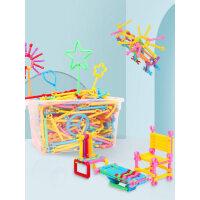 儿童聪明魔术棒积木塑料男孩女孩益智力开发拼装拼插早教启蒙玩具