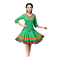 广场舞服装套装民族风大摆裙绚丽多彩舞蹈服装