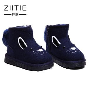 冬季儿童雪地靴男女童1-3岁品牌中大童雪地靴韩版女儿童软底防滑