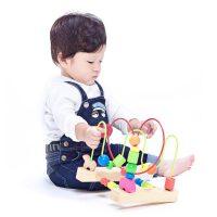 【当当自营】木玩世家 大号串珠架 儿童串珠益智智力木制绕珠周岁宝宝玩具 YT5219