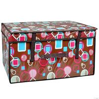 优芬 覆膜收纳箱防水无纺布储物箱衣服被子玩具储存整理箱带盖家用储物箱子60*40*30cm