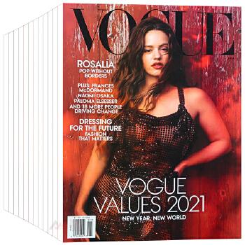 美国 VOGUE 杂志 订阅2020年 F31 服饰美容服装 摄影 时尚生活杂志