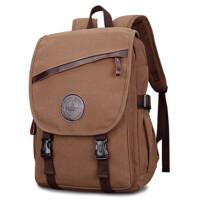 双肩包男帆布背包旅行包学生背包书包大容量男士包包