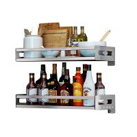 免打孔厨房置物架 壁挂料调味架304不锈钢用品储物架收纳瓶层架