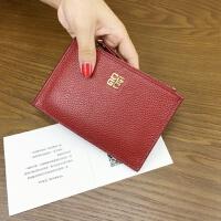 新款[菲宝]多卡位卡包女式短款钱包卡片包拉链零钱包女卡夹