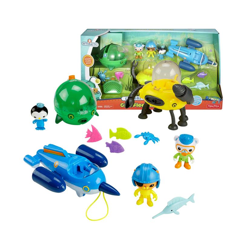 费雪海底小纵队舰艇装小男女孩过家家玩具3-9岁儿童套装益智CHJ04 费雪海底小纵队舰艇装过家家玩具