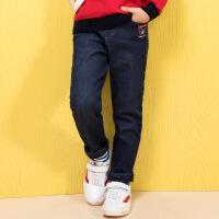 【12月9日开抢 3件3折价:56】水孩儿souhait童装秋装新款男童牛仔裤AMD0825547