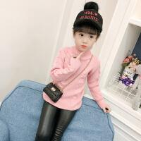 童装女童装2017新款儿童毛衣加厚百搭打底衫韩版羊毛衫针织上衣
