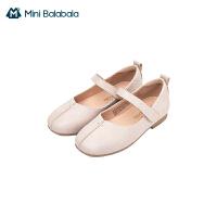 迷你巴拉巴拉儿童公主鞋小皮鞋2021春新款儿童女复古文艺软底鞋子