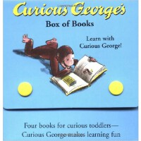 Curious George Box of Books  乔治猴卡板故事书(四本装)ISBN 9780618226115