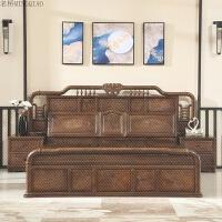 家具鸡翅木大床1.8米提子双人床仿古卧室组合实木高箱床 1800mm*2000mm