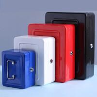 带锁收纳盒密码盒铁盒子小储物箱手提迷你保险零钱桌面整理大号