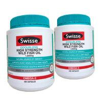 Swisse澳洲原装进口深海鱼油胶囊 降三高调血稠 野生无腥味 400粒 2瓶价 海外购