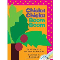 英文原版Chicka Chicka Boom Boom (Book & CD)叽喀叽喀碰碰 ISBN=97814169