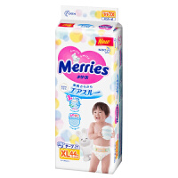 花王 日本原装进口 新生儿婴儿纸尿裤 XL44(12-20kg)男女通用透气吸水尿不湿 新老包装随机发