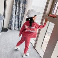 女童卫衣套装2018春装韩版卡通3岁2中小童4运动裤5两件套宝宝衣服