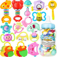 婴儿新生玩具手摇铃牙胶0-1岁宝宝儿童益智幼儿男孩3女孩12个月6