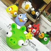 动漫周边愤怒的小鸟钥匙扣 可爱卡通爆眼猪 爆眼鸟钥匙扣 小礼物款式随机