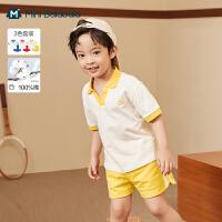 迷你巴拉巴拉儿童短袖2021夏季新款男童女童经典纯棉短袖