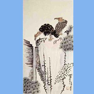 现代画家,美术教育家,曾任中国美协副主席,第一二三届全国人大代表潘天寿(花鸟)2