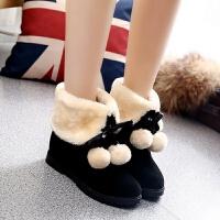 甜美公主靴8-9-10-11-12岁少女孩棉鞋加绒大童小学生雪地靴子冬季