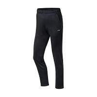 李宁 LI-NING 羽毛球服女款卫裤春季新款长款比赛训练宽松保暖舒适透气运动裤标准黑