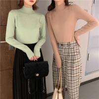 2020新款韩版宽松高领打底针织衫女学生内搭长袖针织上衣
