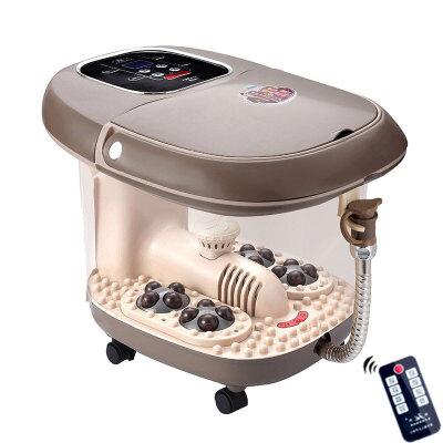 康豪 KH-8338智能全自动按摩足浴盆 深桶足浴器 洗脚盆 四组电动太极按摩轮 大彩屏 全盖 移动轮 排水管 遥控器