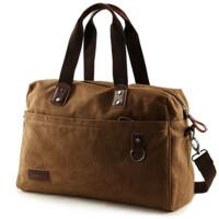 帆布包大容量单肩包 户外手提包斜挎旅行背包男款