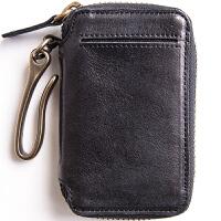 埋不烂 头层牛皮汽车钥匙包男士钥匙扣带卡位 可放驾照Q56 黑色(善于接受的不) (请阅读温馨提示)