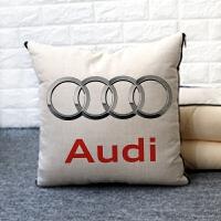 汽车抱枕被子两用多功能车用车载枕头靠垫空调被做logo车标 抱枕42*42展开120*150
