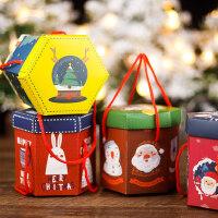平安果包装盒圣诞节礼物手提纸盒子儿童小礼品创意平安夜苹果糖果