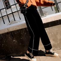 孕妇裤子春季2018新款外穿丝绒阔腿裤潮妈托腹秋宽松打底直筒裤