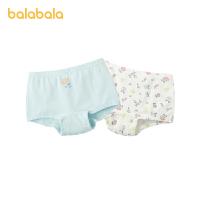 【超品返�� 2件5折:25】巴拉巴拉女童�妊�三角棉�和�����短�小童印花底���力�衩��l�b