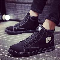 冬季男休闲保暖加绒棉鞋韩版高帮板鞋运动鞋潮D流B13