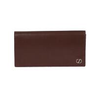 Z ZEGNA 杰尼亚 男士深啡色皮质长款对折钱包钱夹 71 E1176Z PLM BZO