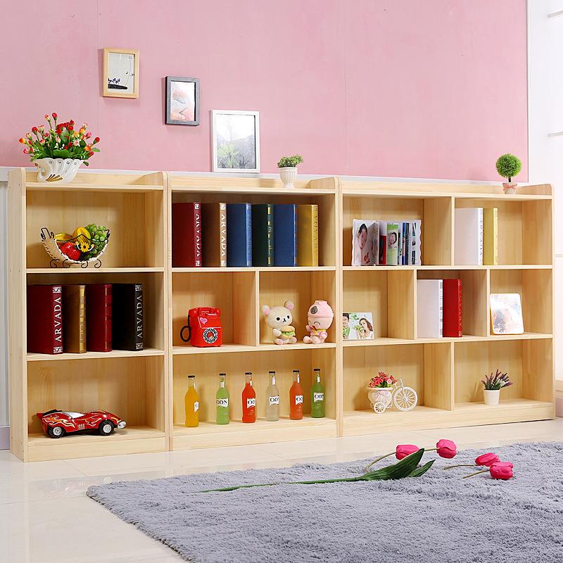 【领券3折 满100再减15】极简亲子环保松木组合书柜 亲子儿童自由组合易拆装简约现代玩具储物柜 支持* 实木设计 安全大容量