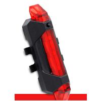 自行车灯车尾灯 单车装饰灯夜骑行装备 山地车警示灯USB可充电死飞