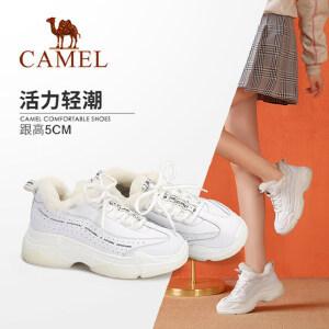Camel/骆驼女鞋 2018冬季新款 运动时尚潮流大气百搭舒适女单鞋