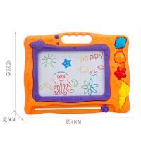 儿童益智磁性写字板 彩色画板绘画小黑板套装玩具带印章 中号