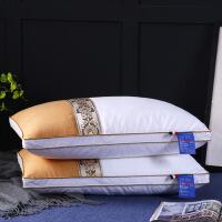 棉贡缎撞色枕头枕芯民族风羽丝绒枕可水洗枕芯柔软酒店枕